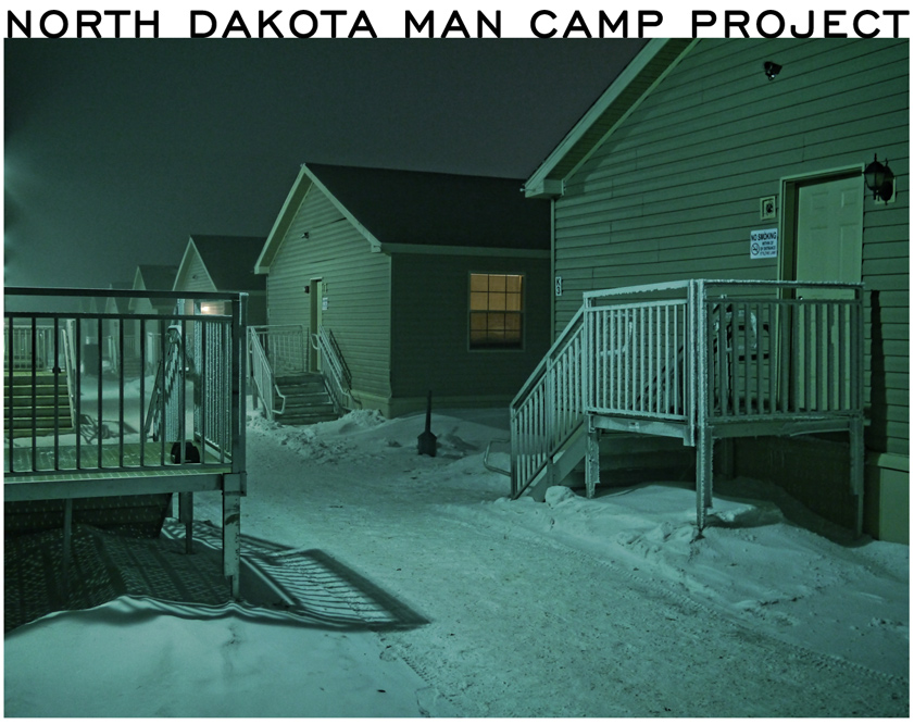 North Dakota Man Camp Project. Image of temporary work force housing in the snow.